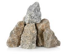 Stock Photo of heap gray stones