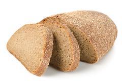 rye bread isolated - stock photo