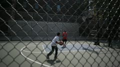 New York City Hoops -W4th and Washington Sq. Stock Footage