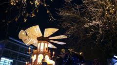 Stock Video Footage of Europe German Christmas Advent Fair Market Xmas