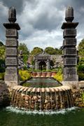 Stock Photo of garden flower pond ornamental