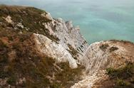 Stock Photo of cliffs chalk coast sea beachy head