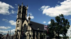 Detroit Church - Woodward ave. Stock Footage