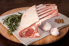 lamb rack crown gourmet food - stock photo