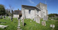 church england medieval parish bramber - stock photo