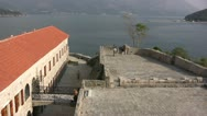 Budva view from Old Town Citadel Stock Footage