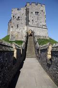 castle medieval english arundel - stock photo