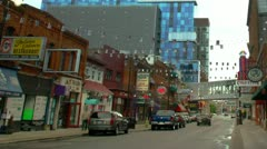 Detroit -Greektown Stock Footage