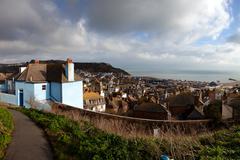 Stock Photo of england south coast view house cityscape