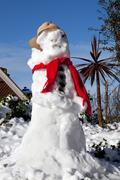 snowman melting - stock photo