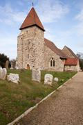 Stock Photo of church grave graveyard england medieval