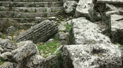 Apollo temple ancient city of Termessos Stock Footage