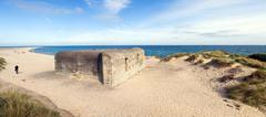 german bunker fortification defense - stock photo