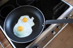 Fryed eggs breakfast Stock Photos