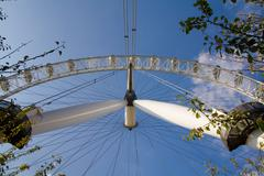 london eye england tourist attraction ferris wheel - stock photo