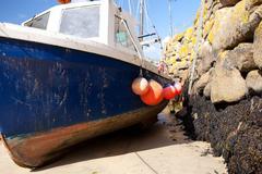 Stock Photo of fishing boat harbor