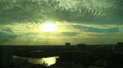 Ft. Lauderdale, Florida Sunset Timelapse Stock Footage