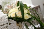 Stock Photo of wedding bouquet white rose