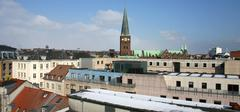 rooftops city view - stock photo