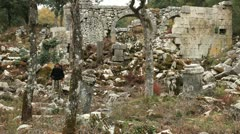 Ancient city of Termessos Stock Footage