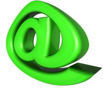 email 3d a - stock illustration