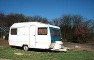 Stock Photo of caravan camping holiday