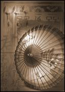 Chinese vintage umbrella chinoiserie Stock Photos