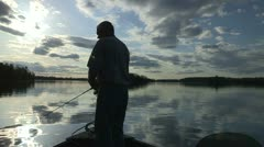 Stock Video Footage of Fishing Early Morning