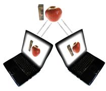 e-learning distance internet information - stock photo