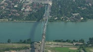 Stock Video Footage of Detroit Ambassador Bridge