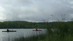 Kayaking Couple - stock footage
