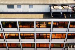 Office facade flats Stock Photos