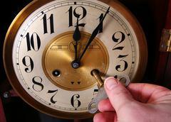 clock vintage midnight - stock photo