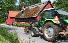 Stock Photo of tractor cottage