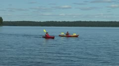 Kayaking Couple Stock Footage