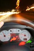 Stock Photo of driving car night dashboard