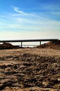 motorway construction - stock photo