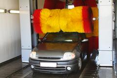 car wash machine - stock photo