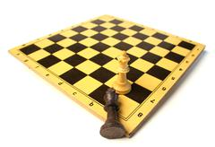 Stock Photo of chess game victory
