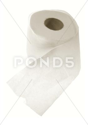 Stock photo of toilet roll
