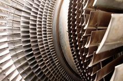 Stock Photo of turbine machine part blades