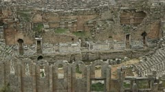 Ancient Amphitheater Of Perge Stock Footage