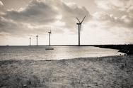 Offshore wind turbines Stock Photos