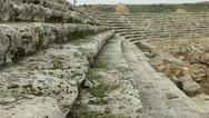 Ancient Olympic Roman stadium in Perge Stock Footage