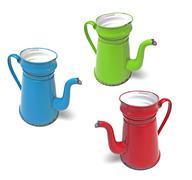 Coffee pot madam blue Stock Photos