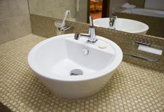White sink Stock Photos