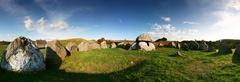 Grave burial site panoramic Stock Photos