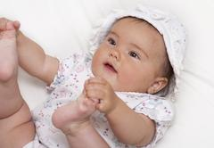 Playful baby - stock photo