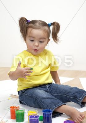 Stock photo of baby artist