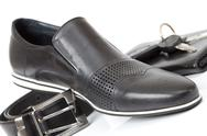 Black male shoe Stock Photos